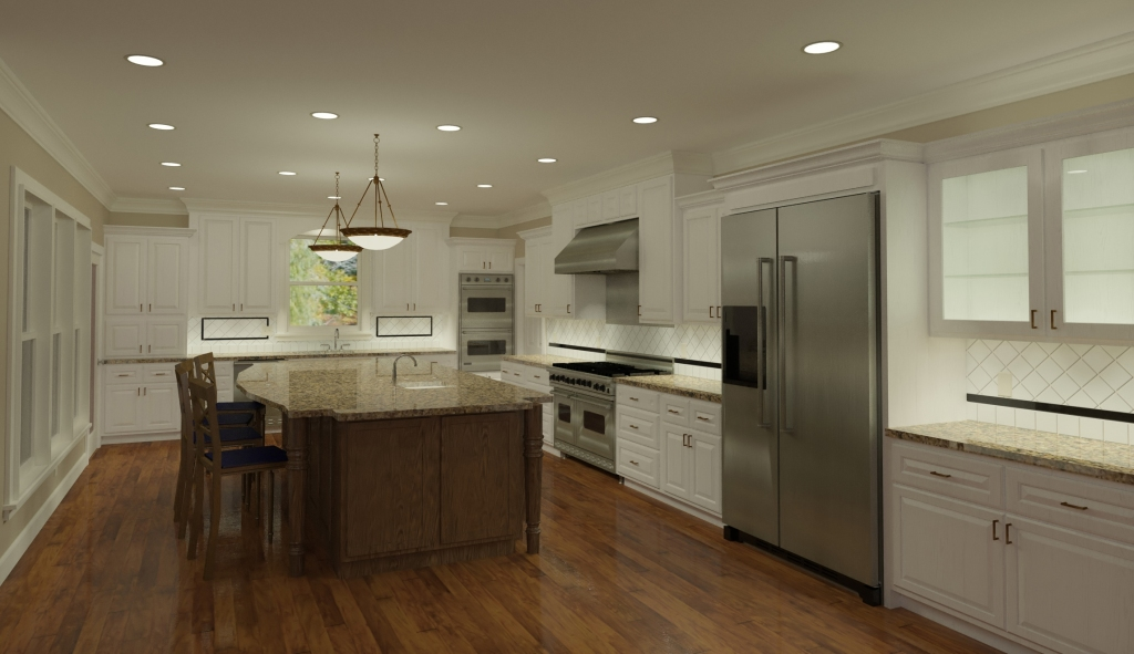 3D Kitchen Rendering by CastleView3D.com