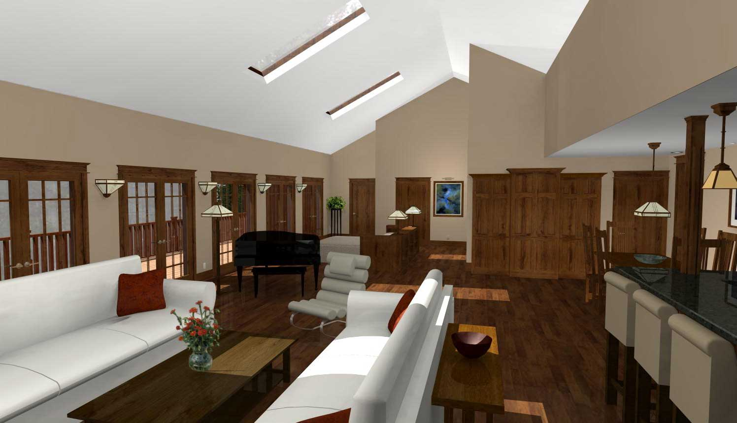 3D Rendering of Main Living Area by CastleView3D.com